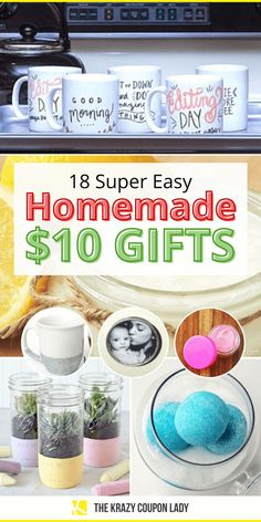If you're looking for some easy homemade Christmas gifts under $10, The Krazy Coupon Lady has you covered! You can make cheap DIY gifts that are still cute and useful for all friends and members of your family in order to save on presents this year. If your Christmas budget is small, or non-existent, taking a DIY gift route is smart and more meaningful. These DIY Christmas crafts are also perfect for kids to help with and many can be gifted any time of year. #diychristmasgifts #savemoney