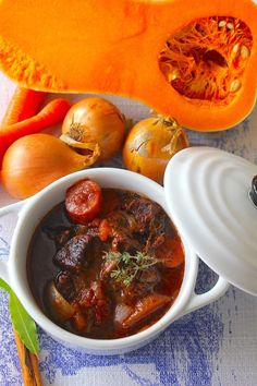 Tomato Pie, Winter Food, Soups And Stews, Pot Roast, Slow Cooker Recipes, Good Food, Food And Drink, Favorite Recipes, Healthy Recipes