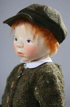 Boy in Green Sweater H141 by Elisabeth Pongratz