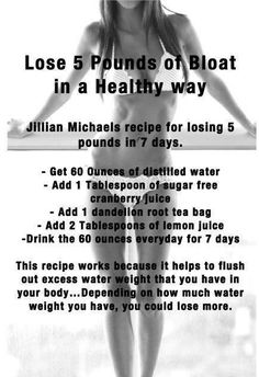 Lose 5lbs. of bloatness the all natural way