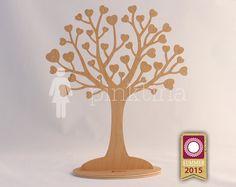 Wooden heart IN LOVE Jewelry Tree Stand NATURAL /Jewelry Organizers /Jewelry Stands /Jewellery Holders/Jewelry Organiser, original handmade