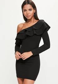 Image result for images off the shoulder dress with frill and sleeve