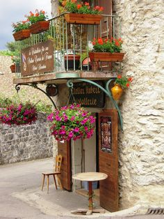 Medieval Village, Yvoire, France (****Yvoire is a medieval city in Haute-Savoie department, in the region of Rhône-Alpes. Medieval Village, Yvoire, Belle France, Atelier D Art, Shop Fronts, Rhone, The Good Place, Places To Go, Beautiful Places