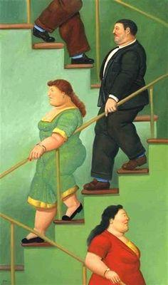Fernando Botero - La escalera, 2002.