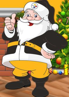 Seahawks Santa Claus Art Print by Joe Hamilton. All prints are professionally printed, packaged, and shipped within 3 - 4 business days. Choose from multiple sizes and hundreds of frame and mat options. Pittsburgh Steelers Wallpaper, Pittsburgh Sports, Pittsburgh City, Joe Hamilton, Christmas Yard, Xmas, Christmas Ideas, Christmas Decorations, Whimsical Christmas