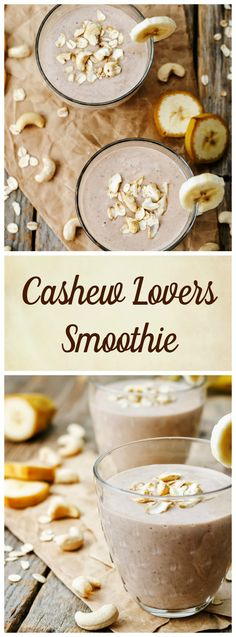 The Creamy Cashew Smoothie is the perfect smoothie for those who love cashews. Cashews are full of heart-healthy fats that have been shown to improve cholesterol and prevent heart attacks and strokes. They are also an excellent source of minerals such as selenium, zinc, and copper. This smoothie recipe also adds ground cinnamon which is ...: