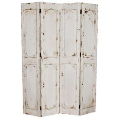 White rustic room divider #screen - Zanui.com.au