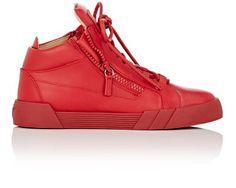 GIUSEPPE ZANOTTI Double-Zip Mid-Top Sneakers. #giuseppezanotti #shoes #sneakers