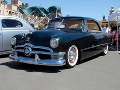 """This car is owned by Tony Miller and yes it is a 1951. In Tony's words"""" it's a phantom -- really a '51 disguised as a '50 (note the rear license plate). I always liked the Vic body style, but preferred the simpler trim and detailing of '49 and '50, so I built the car that I thought Ford should have done."""""""