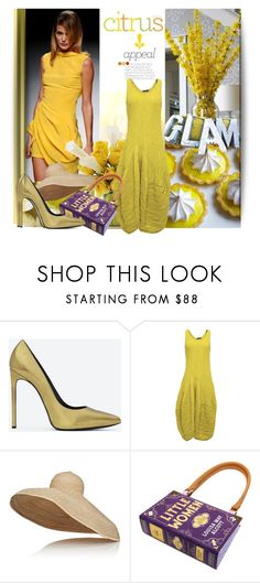 """""""Citrus Styling"""" by lavendergal ❤ liked on Polyvore featuring Kershaw, Calla, Yves Saint Laurent, GRIZAS and Lola"""