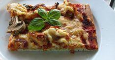 Vi spiser ofte pizza her i huset, som oftest på fredag eller lørdag. Da er det greit å variere pizzaen noe, og toppingen er jo det som er en... Vegetable Pizza, Quiche, Vegetables, Breakfast, Food, Morning Coffee, Essen, Quiches, Vegetable Recipes