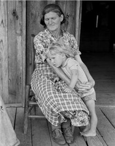 1938 Great Depression photo of Grandmother and child, Southeast Missouri. (No credit found)