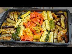 Εύκολη συνταγή ψημένων λαχανικών - YouTube Baked Vegetables, Eggplant Recipes, Zucchini, Easy Meals, Baking, Drink, Food, Easy Trifle Recipe, Healthy Recipes