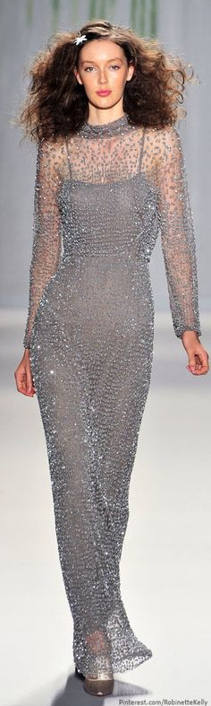I think I'd flare the skirt a little more starting at the hips. Jenny Packham | S/S 2014