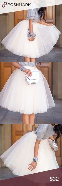 White tulle skirt😍 Perfect. Wore it only a cpl times Skirts Circle & Skater