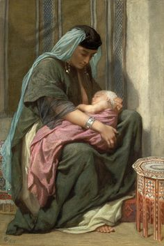 Frederick Goodall (1822-1904), Copt Mother and Child