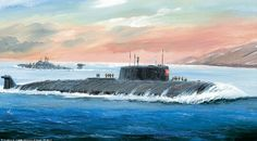 Russian submarine Kursk.  On Eternal Patrol,  Sailors Rest Your Oars.