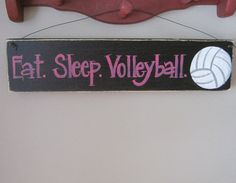 Eat. Sleep. Volleyball. Sports sign teen by TerenasWoodenSigns, $10.00