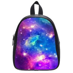 Custom Galaxy Space Black and White Kids School Bag Small Backpack WBG22 >>> This is an Amazon Affiliate link. Want to know more, click on the image.