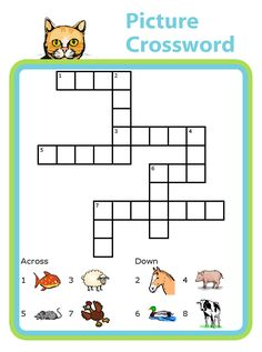 Crossword puzzles with picture clues turn into great spelling practice! Find a great selection on www.thetripclip.com.