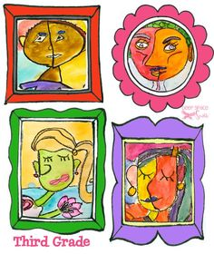 Easy Picasso Faces Art Project | Deep Space Sparkle