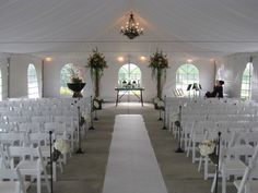 Wedding tent setup at Bear's Best Atlanta