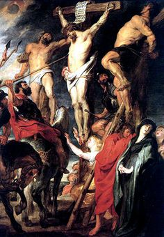 Jesus is pierced with a lance...Through the piercing of Thy Side with a lance, and the water and blood which issued therefrom, Have mercy on us.