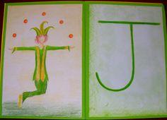 Alphabet cards B.Ed Teacher Training students' work - Centre for Creative… Alphabet Phonics, Alphabet Cards, Learning The Alphabet, Waldorf Education, Kids Education, Alphabet Pictures, Letter Pictures, Grade 1 English, Alphabet Drawing