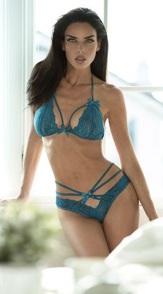 See Through Lace Bra and Brief Set