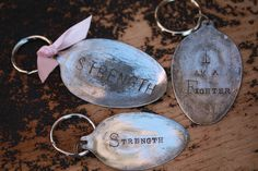 Repurposed spoons- have a few, one is on my keychain and another is a tree ornament, but none have been stamped like this. I really like this idea.