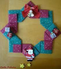 No rastro da memória (Santa Rita do Sapucaí): A arte do Origami - Guirlanda de Natal IV