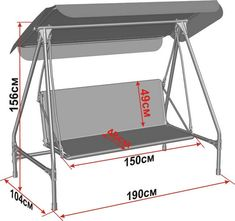 Standard Useful Swing Seat Dimensions - Engineering Discoveries Cube Furniture, Welded Furniture, Iron Furniture, Steel Furniture, Swing Seat, Porch Swing, Metal Work Bench, Metal Swing Sets, Diy Cnc Router