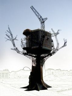 #Steampunk Tree House #sculpture at Dogfish Head Brewery in Delaware