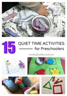 When you are needing some calmness in your classroom or home, try one of these 15 Quiet Time Activities for Preschoolers.