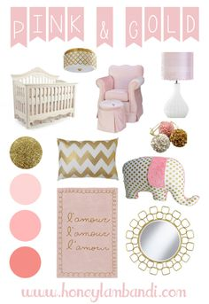 Pink and Gold Nursery Inspiration