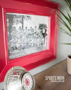 Vintage Baseball Photos Framed