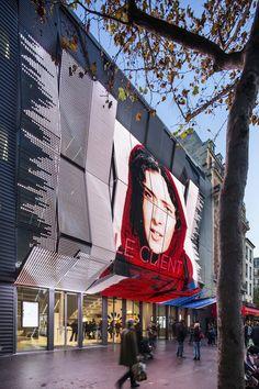 Gallery of Gaumont-Pathé Alésia Cinemas / Manuelle Gautrand Architecture - 8 Cinema Architecture, Commercial Architecture, Futuristic Architecture, Architecture Photo, Mall Facade, Retail Facade, Facade Design, Exterior Design, Terrace Design
