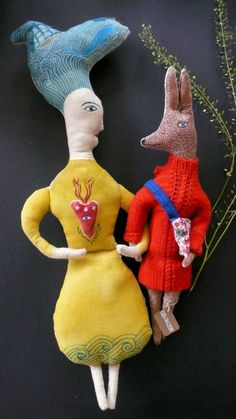 Anouk de Groot - Hazel Savoy the little hare fabric art doll by pantovola
