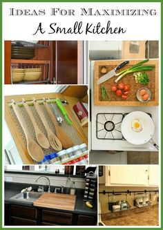 Is your kitchen small? Do you need more space in your kitchen? Here are some great ideas for maximizing and organizing your small kitchen!