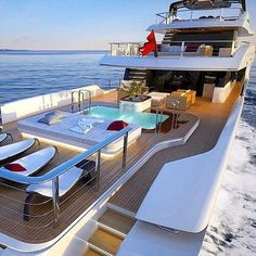 luxury, yacht, and boat style. Having a nice tub on the yacht is almost a necessity nowadays Yacht Design, Luxury Travel, Luxury Cars, Luxury Yacht Interior, Luxury Homes, Bateau Yacht, Jet Privé, Luxury Sailing Yachts, Private Yacht