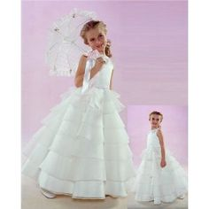 NWT Brand New Flower Girl White Wedding Layers Dress (Apparel)  http://www.1-in-30.com/crt.php?p=B001GRSD1Y  B001GRSD1Y