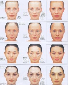 How to correct face shape with makeup  Your face shape is beautiful just as it is, but this is pretty interesting.