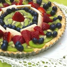 German Fruit Tart recipe - my Mom made these for all special occassions.......
