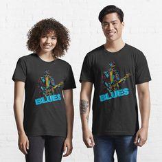 """Play The Blues"" T-shirt by BlueMoonGear | Redbubble Joe Biden, Wahlen Usa, Chien Shiba Inu, Donald Trump, Nerd, Cute Tshirts, Pullover, Black Power, Haute Couture"