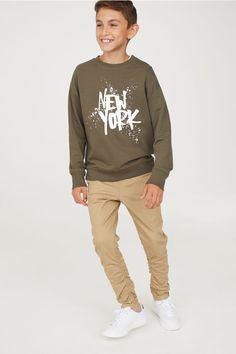 Pull-on Pants - Beige - Kids | H&M US 1