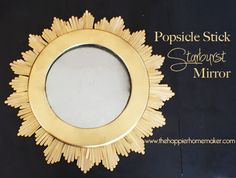 popsicle stick starburst mirror