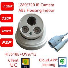 $17.50 (Buy here: https://alitems.com/g/1e8d114494ebda23ff8b16525dc3e8/?i=5&ulp=https%3A%2F%2Fwww.aliexpress.com%2Fitem%2FHD-IP-Camera-720P-Indoor-Dome-Cam-IR-Lens-2-8mm-IP-CCTV-Security-Camera-Network%2F32654976117.html ) HD IP Camera 720P Indoor Dome Cam IR Lens 2.8mm  IP CCTV Security Camera Network Onvif  P2P  1mp/720p IP CCTV Camera for just $17.50