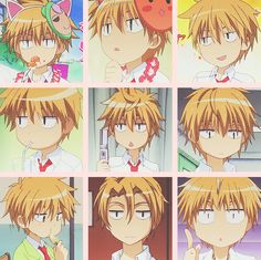 I seriously loved how the characters were sometimes drawn bubbly in Kaichou wa Maid-Sama... かわいい〜