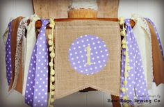 This item is unavailable Cake Smash Backdrop, Birthday Highchair, Yellow Birthday, High Chair Banner, Sons Birthday, Fabric Strips, Jute Twine, Party Photos, Birthday Party Decorations