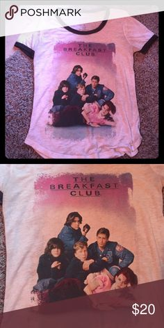 The Breakfast Club 80s Burnout T-Shirt Really cute with definite vintage vibes. Love this movie so much.  Not Urban Outfitters, just listing for exposure. Urban Outfitters Tops Tees - Short Sleeve